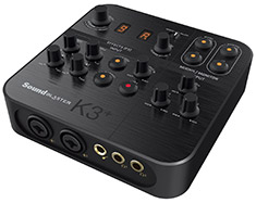 Creative Sound Blaster K3+ HD USB Audio Interface