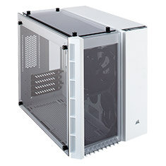 Corsair Crystal Series 280X Tempered Glass mATX Case White
