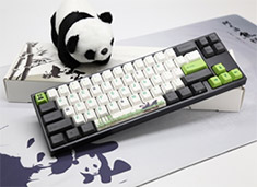 Ducky MIYA Pro Panda Mini Mechanical Keyboard Cherry Silver