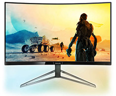 Philips 328M6FJRMB 31.5in Curved FreeSync HDR400 QHD Monitor