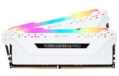 Corsair Vengeance RGB Pro 16GB (2x8GB) 3600Mhz CL18 DDR4 White