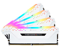 Corsair Vengeance RGB Pro 32GB (4x8GB) 3000MHz CL15 DDR4 White