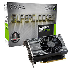 EVGA GeForce GTX 1050 Ti SC GAMING 4GB