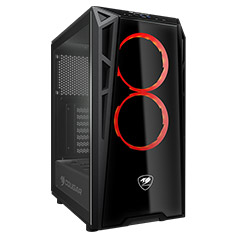 Cougar Turret Tempered Glass Mid Tower Case