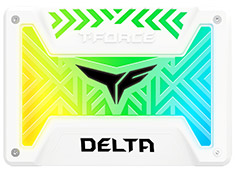 Team T-Force Delta RGB 2.5in SATA SSD 1TB White