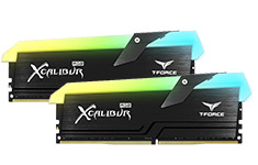 Team T-Force Xcalibur RGB 16GB (2x8GB) 4000MHz CL18 DDR4 Black