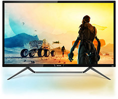 Philips 436M6VBPAB UHD HDR1000 43in VA Ambiglow Monitor