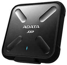 ADATA SD700 Rugged IP68 External SSD USB 3.1 256GB Black