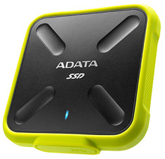 ADATA SD700 Rugged IP68 External SSD USB 3.1 1TB Black Yellow