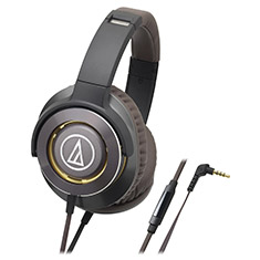 Audio-Technica ATH-WS770iS Solid Bass Headphones Gun Metal
