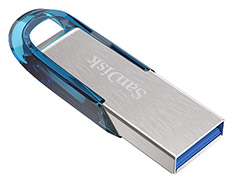 SanDisk Ultra Flair USB 3.0 Flash Drive 128GB Blue