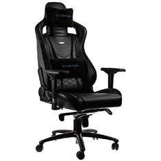 noblechairs EPIC PU Leather Gaming Chair Black Blue