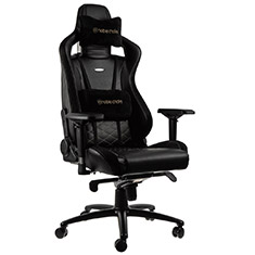 noblechairs EPIC PU Leather Gaming Chair Black Gold