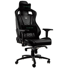 noblechairs EPIC PU Leather Gaming Chair Black Green