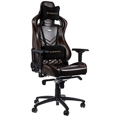 noblechairs EPIC Real Leather Gaming Chair Brown Beige