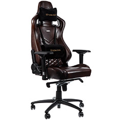noblechairs EPIC Real Leather Gaming Chair Brown Black