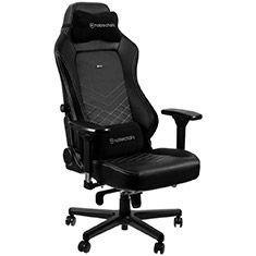 noblechairs HERO PU Leather Gaming Chair Black Platinum White