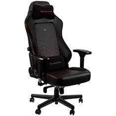 noblechairs HERO PU Leather Gaming Chair Black Red
