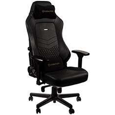 noblechairs HERO Top Grain Leather Gaming Chair Black