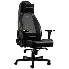 noblechairs ICON PU Leather Gaming Chair Black Gold