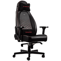 noblechairs ICON PU Leather Gaming Chair Black Red