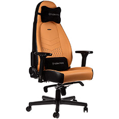 noblechairs ICON Real Leather Gaming Chair Cognac Black
