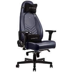 noblechairs ICON Real Leather Gaming Chair Midnight Blue