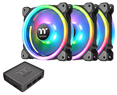 Thermaltake Riing Trio 12 LED RGB Radiator 120mm 3 Fan Pack