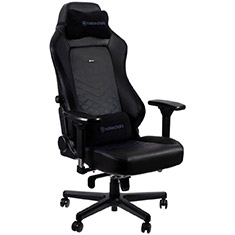 noblechairs HERO PU Leather Gaming Chair Black Blue