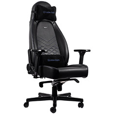 noblechairs ICON PU Leather Gaming Chair Black Blue
