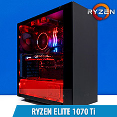 PCCG Ryzen Elite 1070 Ti Gaming System