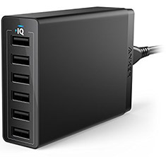 Anker PowerPort 6 Port Desktop Charger Black