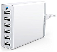 Anker PowerPort 6 Port Desktop Charger White