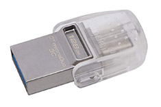 Kingston DataTraveler MicroDuo 3C 128GB USB 3.1 Flash Drive