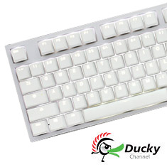 Ducky One 2 White Mechanical Keyboard White LED Cherry Red