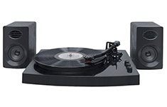 mbeat Pro-M Turntable Bluetooth Stereo System Black
