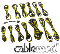 CableMod SE-Series KM3, XP2, XP3 & FL2 Cable Kit Black/Yellow