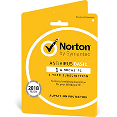 Norton Antivirus Basic OEM 1 Device 1 Year