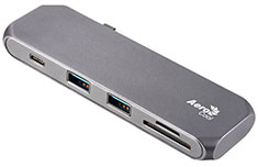 Aerocool Slimline Type-C Hub & Dock with Card Reader