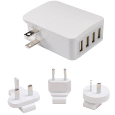Aerocool 4 Port USB Wall Charger White
