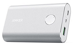 Anker PowerCore+ 10050mAh Power Bank with QC3.0 Silver