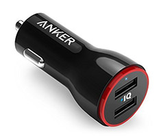 Anker PowerDrive 24W 2 Port Car Charger Black