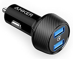 Anker PowerDrive Speed 2 Port Car Charger Black