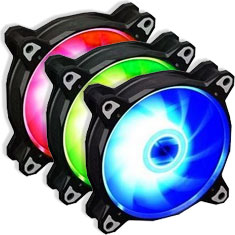 Lian Li Bora Lite RGB PWM 120mm Black - Three Pack
