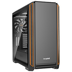 be quiet! Silent Base 601 Tempered Glass Case Orange