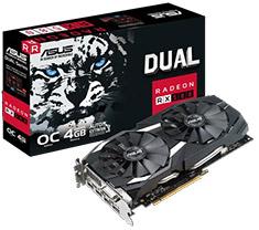ASUS Radeon RX 580 Dual Gaming OC 4GB