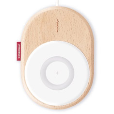 Hotway Probox Wireless Charging Pad QC3.0 15W Wooden - White