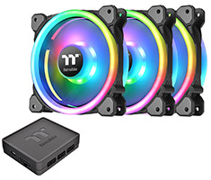 Thermaltake Riing Trio 14 LED RGB Radiator 140mm 3 Fan Pack