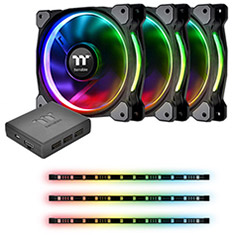 Thermaltake Riing Plus 12 RGB Fan 3pk & Lumi Plus Combo Kit
