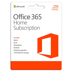 Microsoft Office 365 Home 6 Device 1 Year Subscription